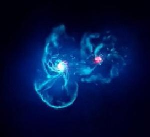 天の川銀河とアンドロメダ銀河との衝突シミュレーション