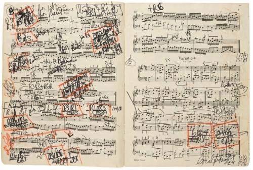 グレングールドが書き込んだゴルトベルク変奏曲の楽譜が発見された
