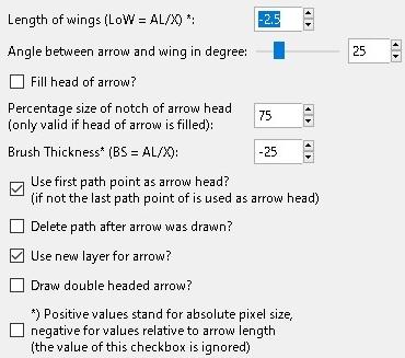 GIMP 矢印プラグイン Draw arrow