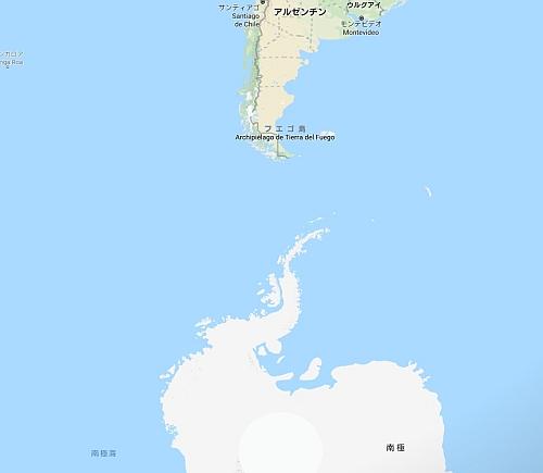 ラーセンの棚氷はアルゼンチン南にある