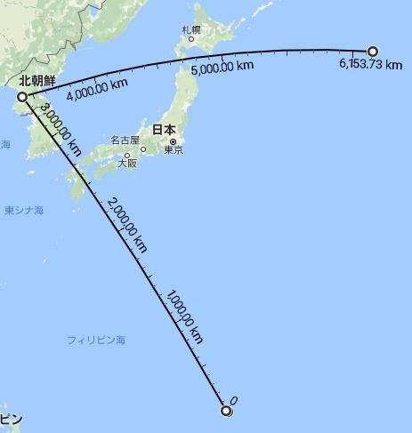 北朝鮮ミサイルはグァムを狙える飛距離