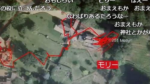 にゃんこ24時GPSトレース