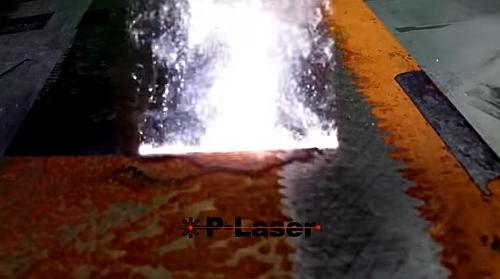 レーザーで錆を破壊する錆取り方法