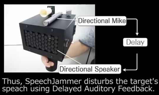 発話者をドモリにするジャミング装置